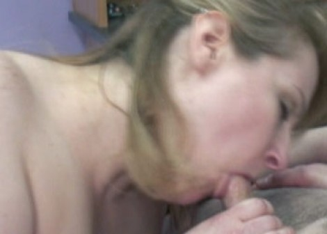 Plump Rebecca blows Logan