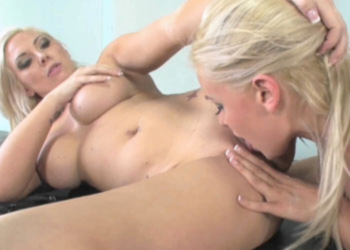 Skylar hooks up with another busty blonde